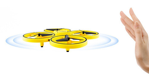drone quadcopter anti-colisión brillante+control remoto dedo