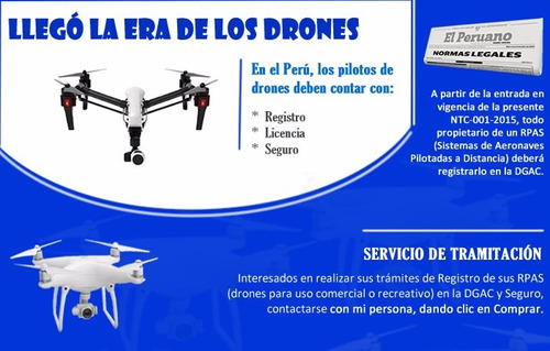 drone registramos tu drone, camara go pro en el mtc