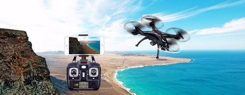 drone syma x5sw-1 wi-fi + repuestos 4 baterias 1400 mah +