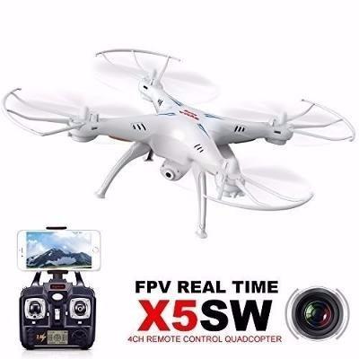 drone syma x5sw tiempo real cámara 2mpx wifi+envio gratis