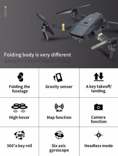 drone toysky s168 e58 con camara filma hd 720p plegable