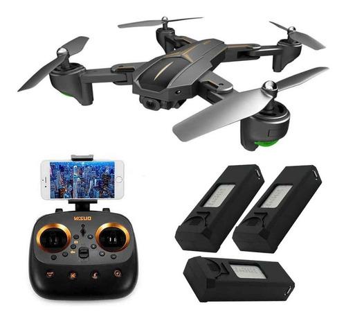 drone visuo xs812 gps - câmera wifi full hd 1080p, smart f.