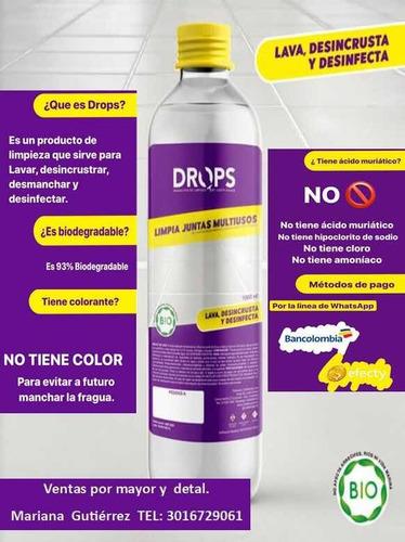 drops limpia juntas, líquido de limpieza 100% efectivo