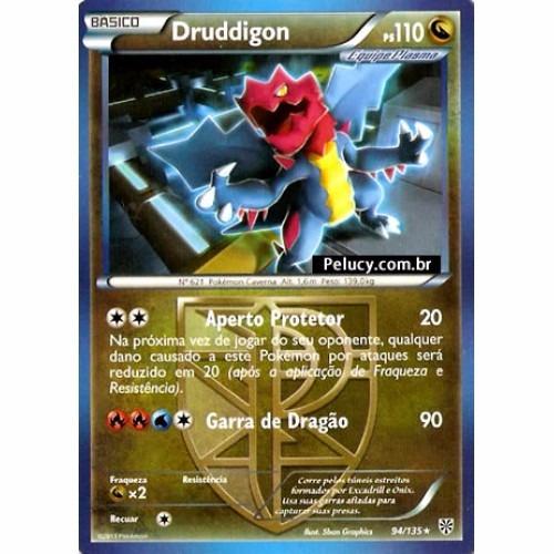 druddigon - pokémon dragão raro - 94/135 - pokemon card game