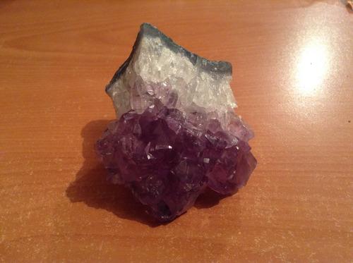 drusa de amatista en bruto 195 gramos,piedra natural