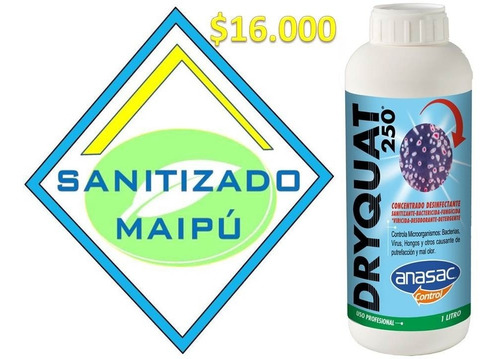 dryquat 250 desinfectante amonio cuaternario.
