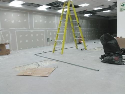 drywall, cielorraso, techo aluzinc, metal pintura.