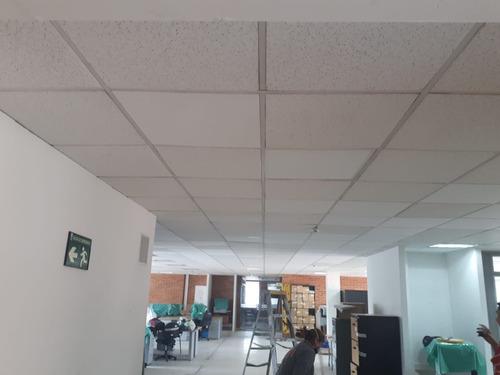 drywall,piso laminado y masisos. cielo raso.