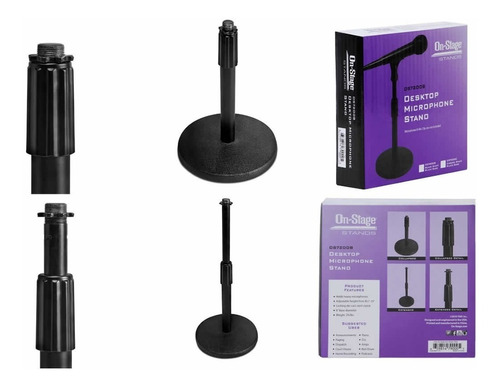 ds7200b on-stage stands pedestal de mesa para microfone