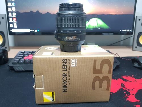 dslr nikon d5100 + 18-55mm + 35mm originais