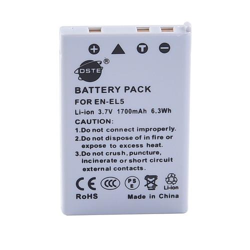 dste 2x batería en-el5 + dc12 adaptador de viaje y cargador