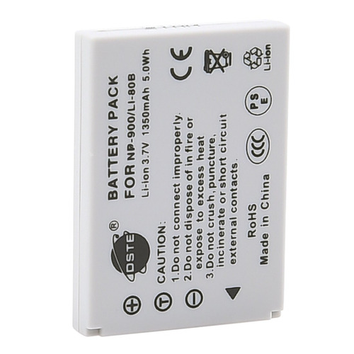 dste® 2x li-80b battery + dc55 adaptador de viaje y cargador
