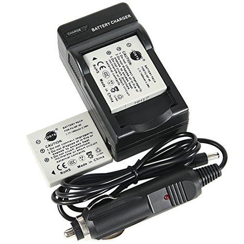 dste 2x np-40 batería + dc29 adaptador de viaje y cargador d