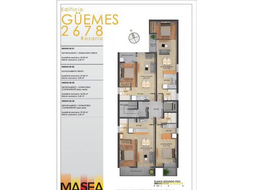 dto. monoambiente al frente (ascensor)  guemes 2678