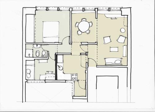 dto. muy luminoso, céntrico de 2 dormitorios -en 44 e/ 8 y 9