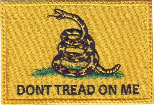 dtom dont tread on me bandera serpiente parche bordado