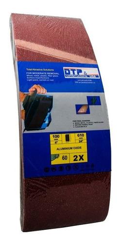 dtp lijas de banda 4x24 grano 40,60 y 80 6und