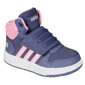venta de descuento materiales de alta calidad recoger Dtt Tenis Sneaker adidas Hoops Niña Bota Azul 49388