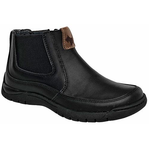 0b14de44b3b Dtt Zapatos Vestir Ferrioni Botin Hombres Piel Negro K89226 ...