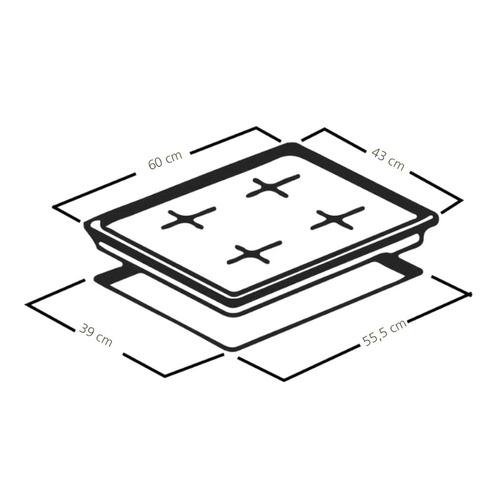 dtx cubierta cmg6044la-0con de empotrar 60 cm