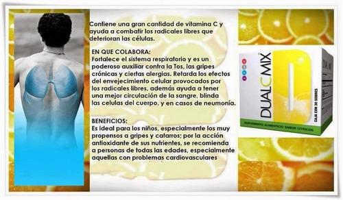 dual c omnilife caja x 30 sobres vitamina c