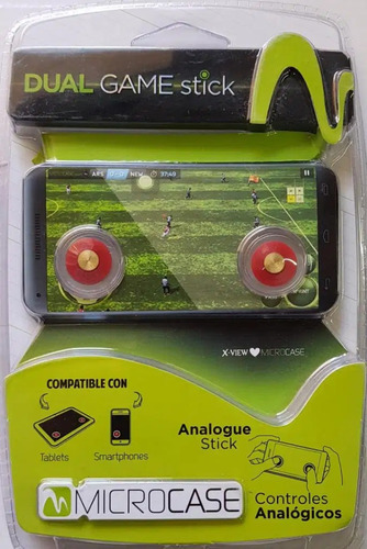 dual game stick microcase cursores analogicos juegos touch