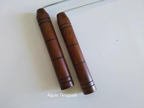 dual rod /dual rood radiestesia cabo madeira profissional