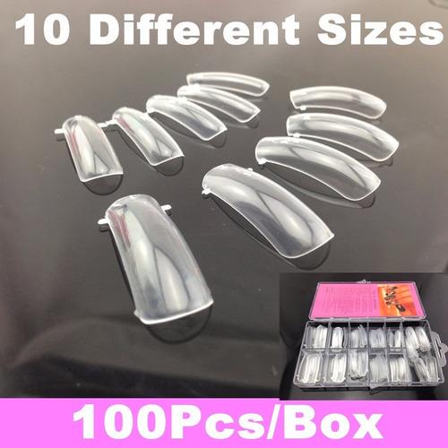 dual system form para uñas acrilicas 100 pcs