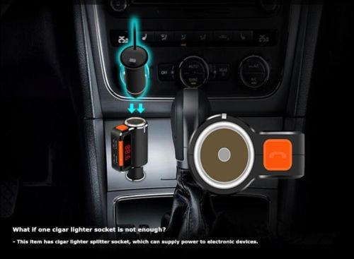 dual usb coche cargador bluetooth mp3 fm transmisor cigarro