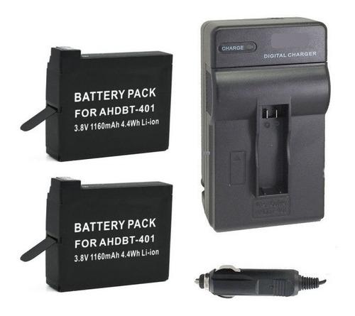 duas baterias + um carregador gopro hero4 retire centro rj
