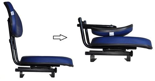 duas cadeiras barco p/ piloteiro estofada giratória dobrável