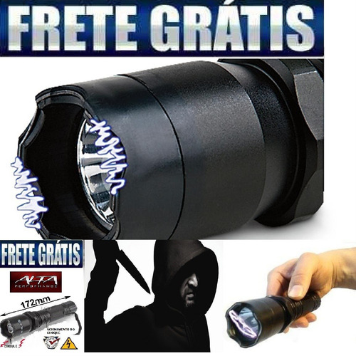 duas lanternas bateria recarregavel com choque ultra potente
