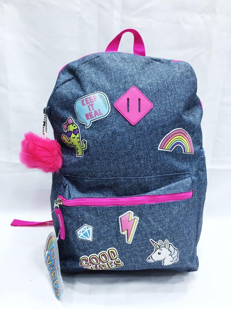 b5012719ac duas mochila feminino unicórnio escolar juvenil cactos. Carregando zoom.