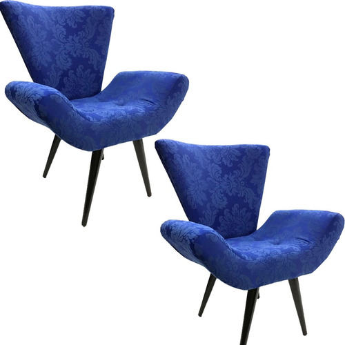 duas poltrona decorativa elegance jacquard escolha a cor