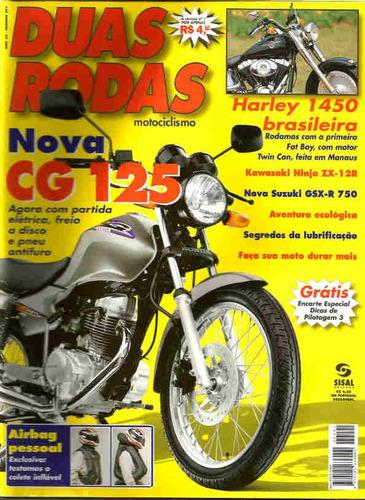 duas rodas 291 * cg 125 * harley 1450 * zx-12r * gsx-r 750
