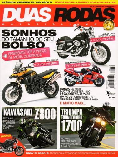 duas rodas n°449 kawasaki z800 triumph thunderbird 1700