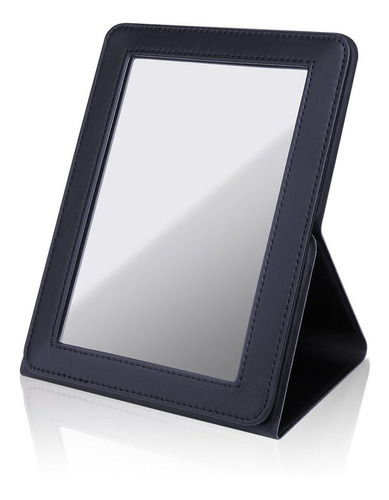 ducare espejo de maquillaje delgado portátil con soporte