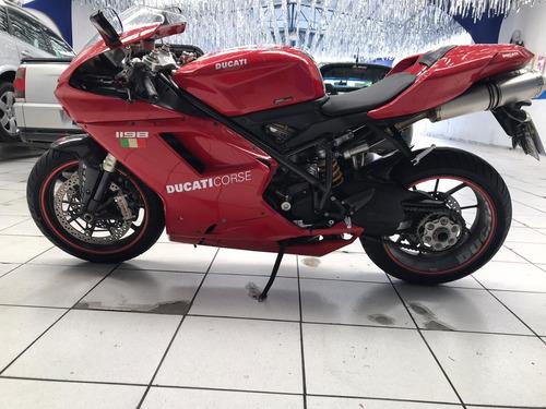 ducati 1198 vermelha 1200cc