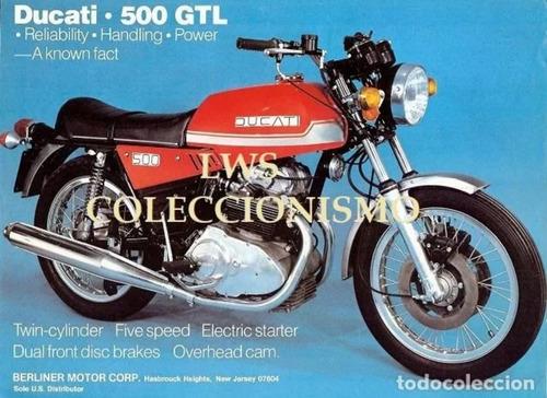 ducati gtl 500 coleccion año 1977