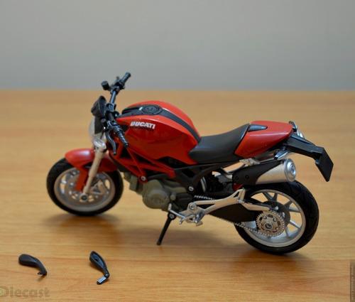 ducati monster 1100 marca newray moto escala 1/12 die cast