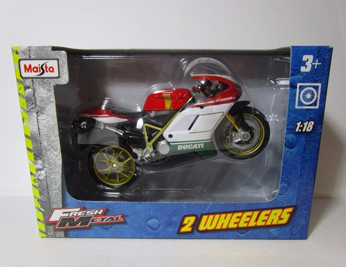 ducati moto escala 1/18 de coleccion metalica 12cm largo