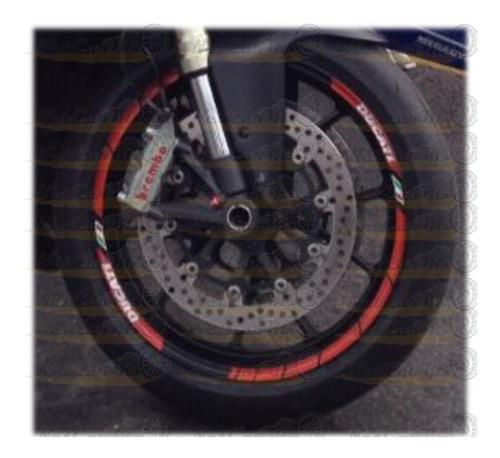 ducati moto stickers calcomanias cintas para ceja de rin 17