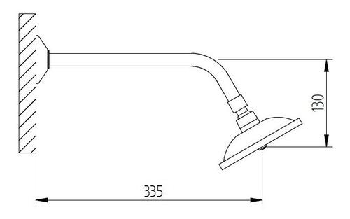 ducha aspersora robinet 16cm diam cromo 6 cuotas