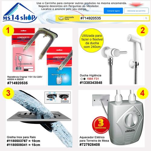 ducha banho pet  + resistência extra 110v/550w ou 220v/5500w