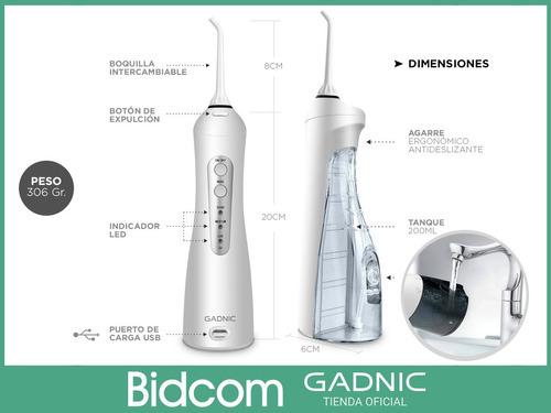 ducha bucal irrigador dental gadnic blanqueamiento 1400 mah