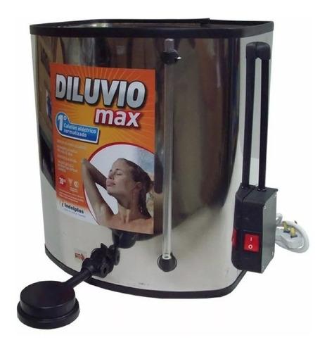 ducha calentador calefon electrico 20 lts acero inox diluvio