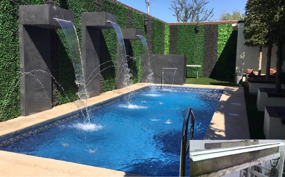Duchas para piscina great ducha para piscina curva with for Ducha cascada