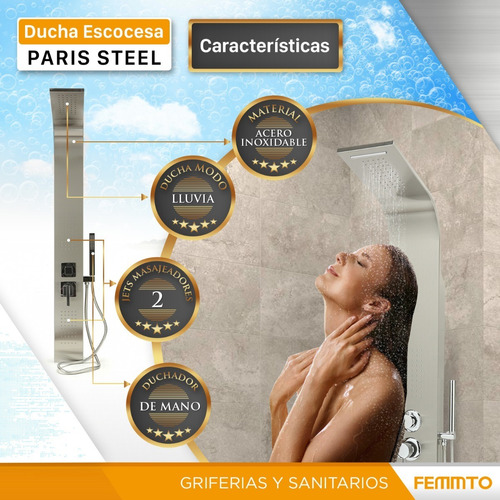 ducha con columna
