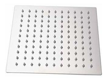 ducha cuadrada 20x20 cm barral 32 cm acero inoxidable