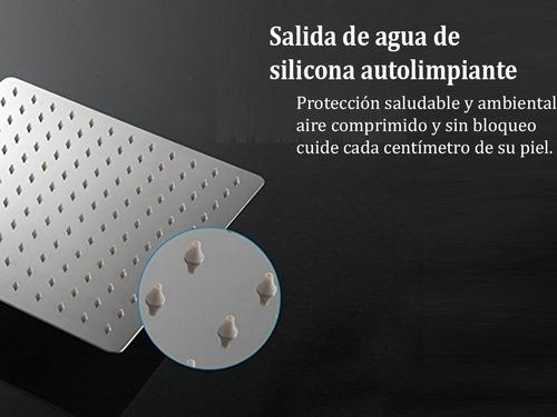 ducha cuadrada acero inoxidable 20x20 cm barral 42 cm